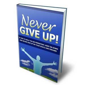 Never Give Up - Discover 70 Ways To Stay Persistent And To Never Give Up On Your Dreams